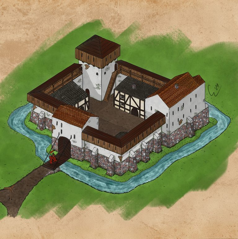 Rekonstruktion der Burg Storkow